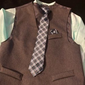 Boys Button up Shirts, Ties and vest